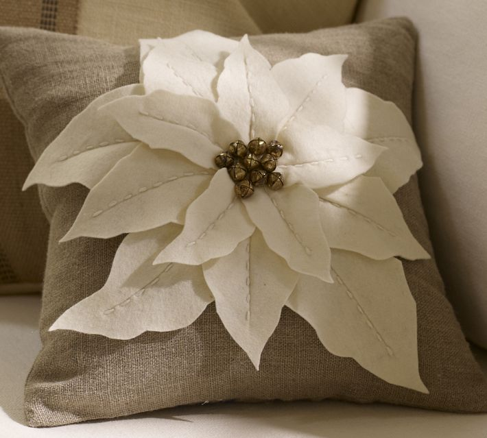 Groovy Times Diy Pottery Barn Poinsettia Pillow