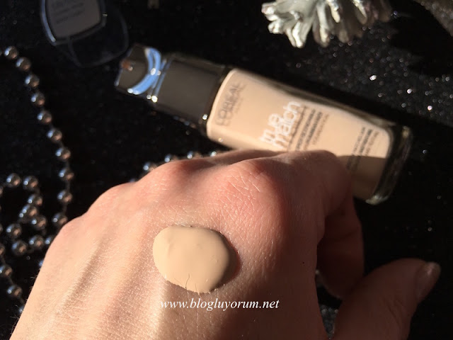loreal paris true match 1r 1c rose ivory fondöten swatch