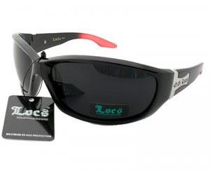 0cf043f348d Dark Tinted Glasses  Locs Sunglasses black and red frame charcoal ...
