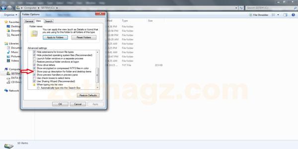 Cara Menyembunyikan/Menghilangkan Tooltip Folder di Windows