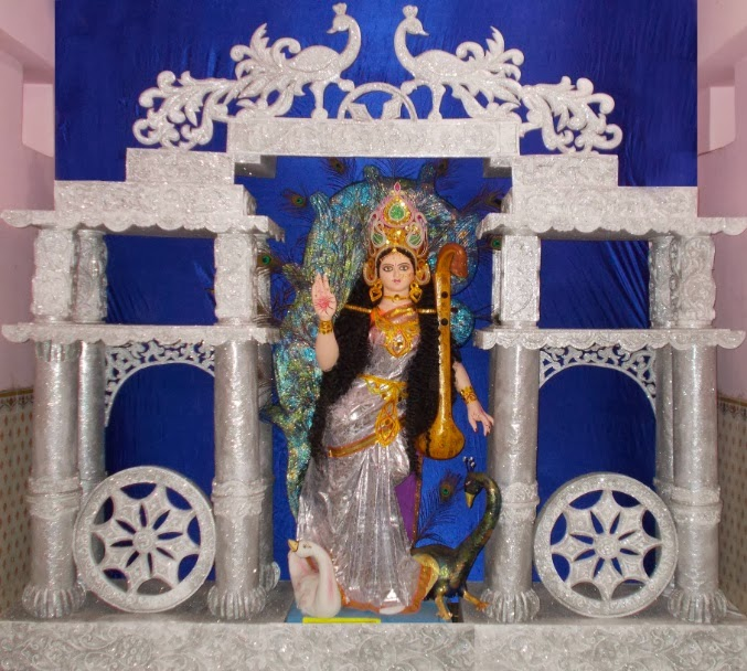 keshav nath artist background stage thermocol decoration saraswati puja loco bazar