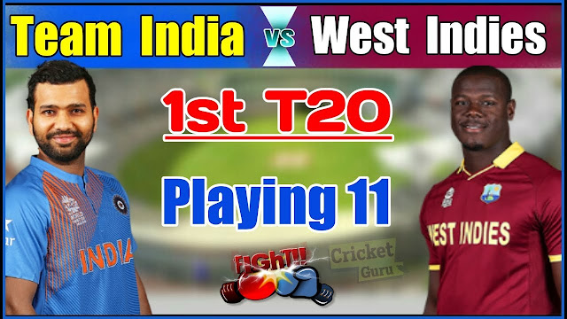 India vs West Indies 1st T20 Match 2018