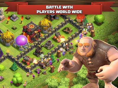 Clash of Clans v8.709.2 Mod Hack APK (Unlimited Gold Infinite Gems Dark Elixir/ Unlimited Money) Update Terbaru 2016