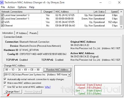 Tecnitium MAC Address Changer