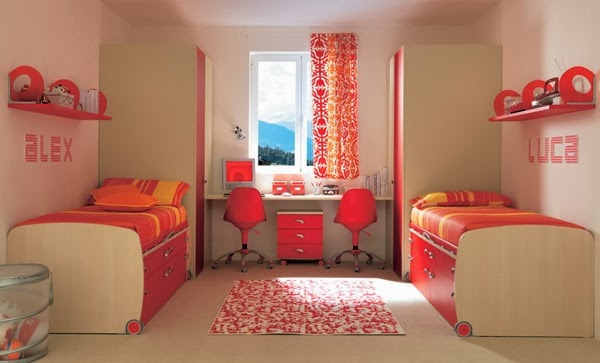 Habitaciones para adolescentes color coral dormitorios for Cuarto color