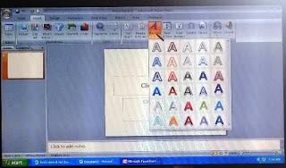 cara memilih jenis wordart di powerpoint