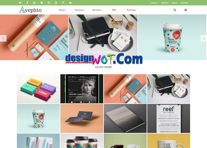 Avephto - Creative Responsive Blogger Template