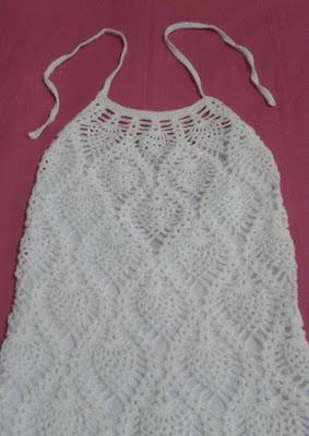 Vestido frente única de crochê Vestimentarte