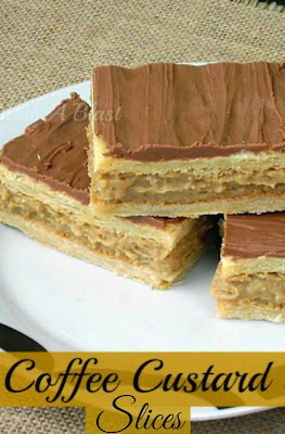 How to make quick Coffee Custard Slices using Puff Pastry