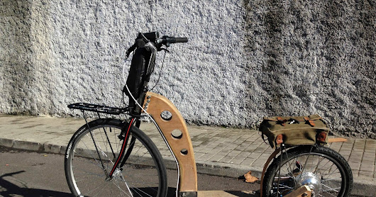 La Morsa 06 ver. 1.3. Wooden FootBike. Wooden KickBike. Homemade Kick Bicycle. Electric Foot Bike. Electric Kick Bicycle. Trotinette.