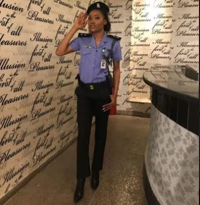 "Nigerian beauty queen contests for ""Miss Intercontinental World"" in Egypt dressed as a Police officer"