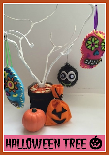 How to make a simple Halloween tree