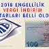 2018 Engelli vergi indirim tutarları açıklandı
