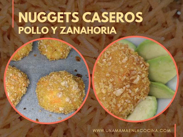 NUGGETS CASEROS saludables de pollo y zanahoria al horno para peques