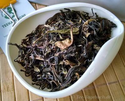Darjeeling Oolong type - das trockene Blatt