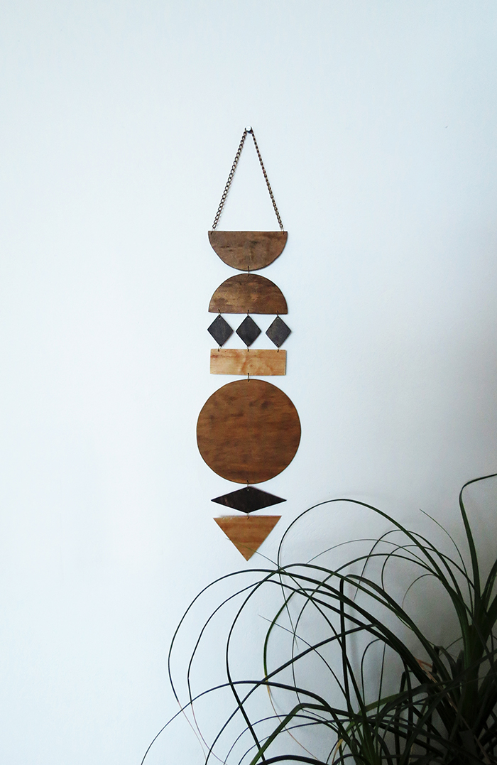Modern DIY Plywood Wall Hanging