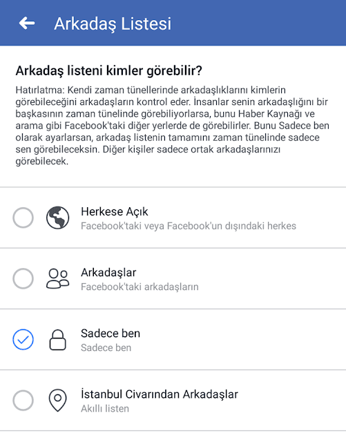 facebook mobilden arkadaş gizleme
