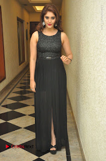 Actress Surabhi Stills in Black Long Dress at turodu Audio Launch  0072.JPG