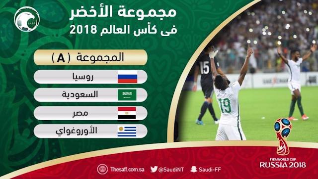تعرف على توزيع المنتخبات فى مجموعات كأس العالم 2018