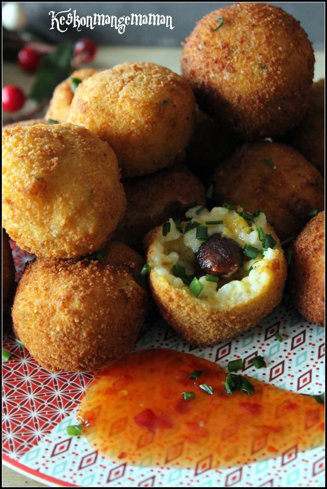 Keskonmangemaman foodista challenge cuisiner les restes arancinis restes de risotto la - Cuisiner la veille pour le lendemain ...