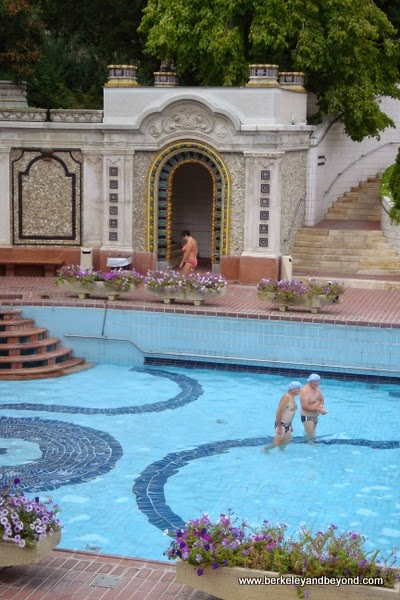 outside pool at Gellert Baths in Budapest, Hungary