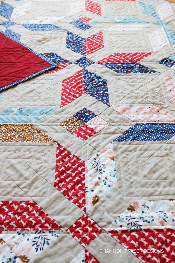 Forest Talk Winter Star Quilt | How to bury quilt threads + 5 top tips | Quilting Tutorial | Shannon Fraser Designs