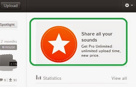 cara upgrade soundcloud jadi pro