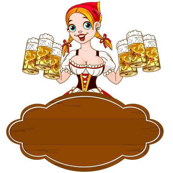 Cartel de precios y ofertas de cerveza - Vector