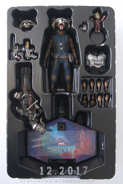 osw.zone Haul for December 2017: Hot Toys Guardians of the Galaxy Rocket and Arkham Knight Batman