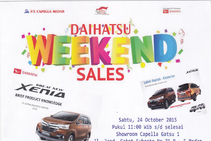 Diskon lebih/tambahan mobil Daihatsu di Medan Oktober 2015