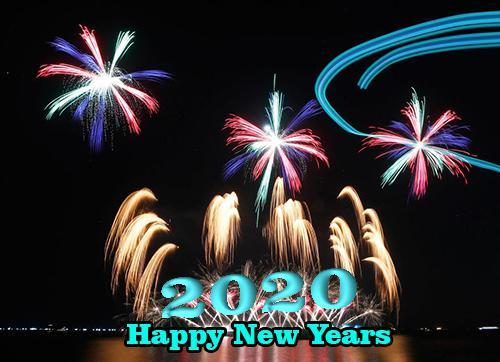 Kata-Kata Ucapan Tahun Baru 2020 Gambar Kartu Selamat Bergerak