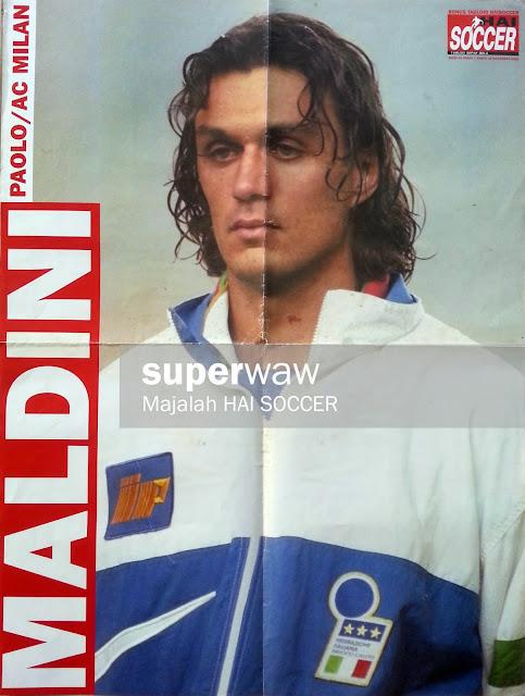 Big Poster Paolo Maldini (Italia 1995)
