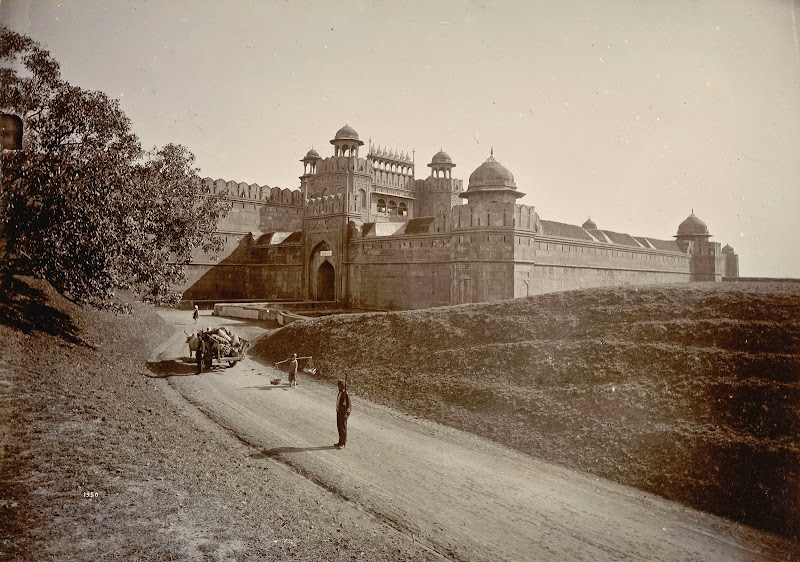 Delhi Gate of Red Fort - Delhi 1895, Photographed by Lala Deen Dayal