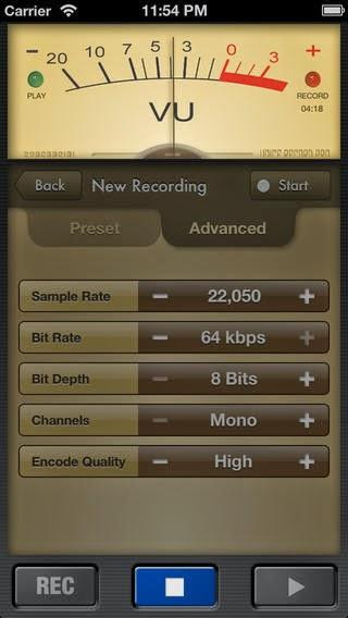 تطبيق مجاني لتسجيل الصوت بجودة عالية للأيفون والايباد والايبود Voice Record Pro 2.3 iOS-IPA