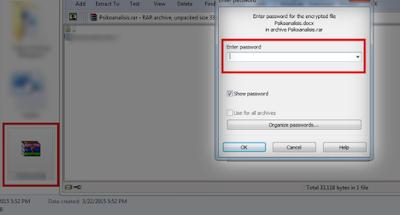 cara membuka file rar yang terkunci, membuka password rar dengan cmd dengan notepad tanpa software secara online