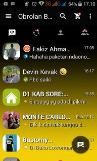 BBM MOD Dark Yellow v2.13.1.14 Apk