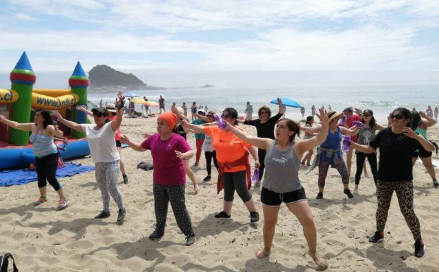 Programa deportivo presente en playas de la región