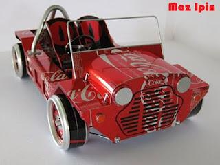 gambar miniatur mobil dari kaleng bekas