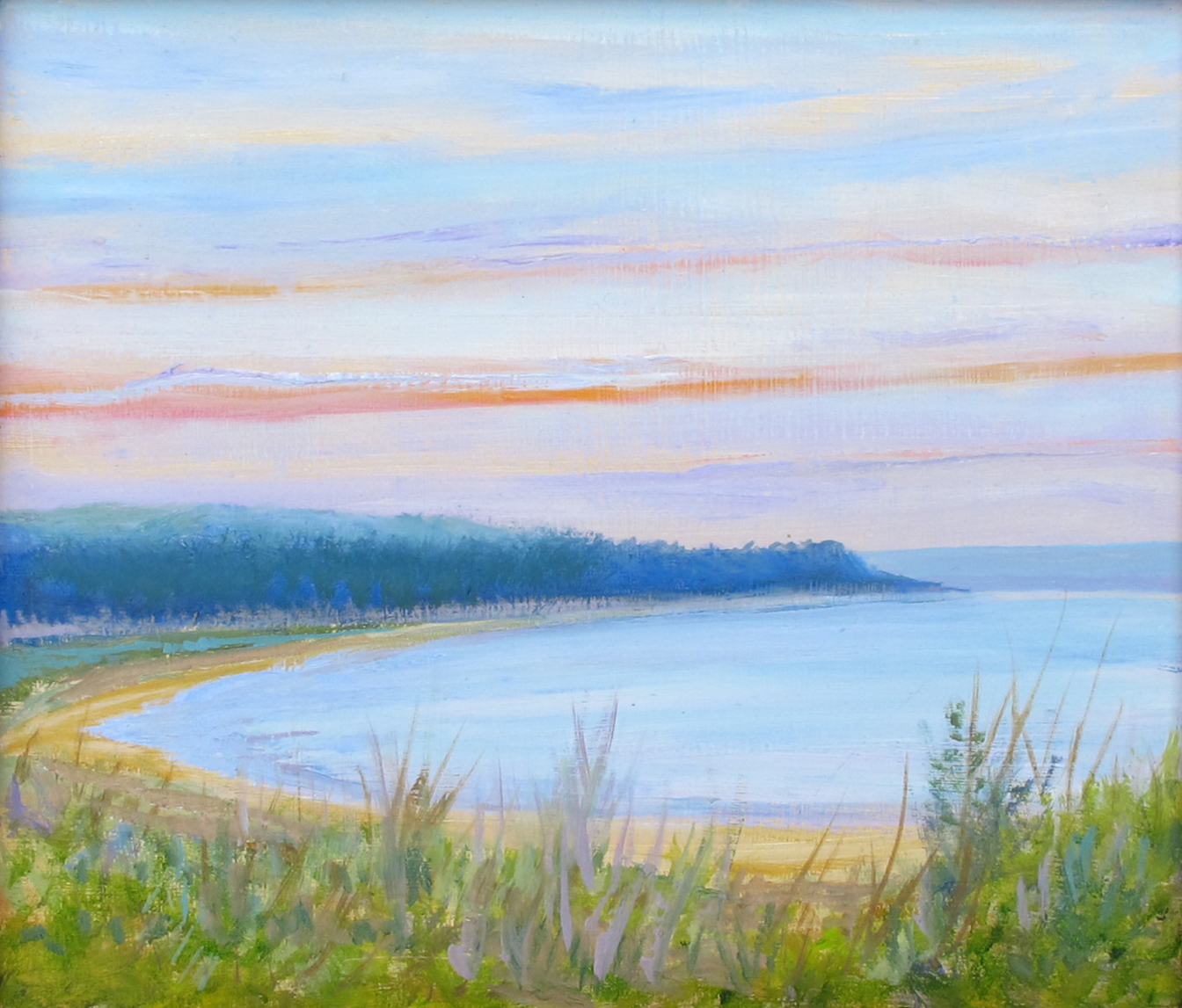 The Gallery For Simple Beach Sunset Painting