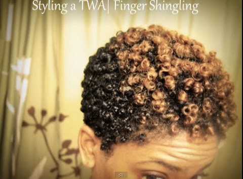 Finger Shingling Your Twa Natural Hair Styles Curlynikki Natural Hair Care