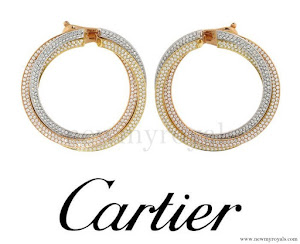 Kate Middleton wore Cartier Diamond 'Trinity de Cartier' Earrings