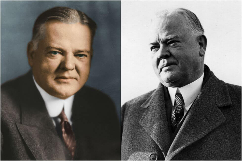 15 Before And After Photos Of US Presidents Depict How Their Job Transformed Them - Herbert Hoover (1929-1933)