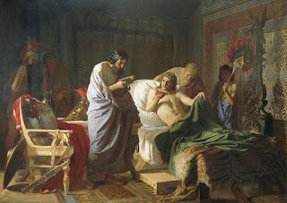 الأمنيات الثلاثة للإسكندر وهو على فراش الموت