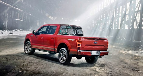 2019 Ford f150 Diesel Rear View