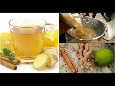 Jengibre con canela y limon para bajar de peso