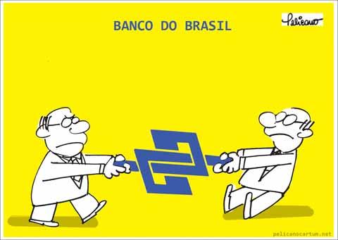 Resultado de imagem para banco do brasil charges