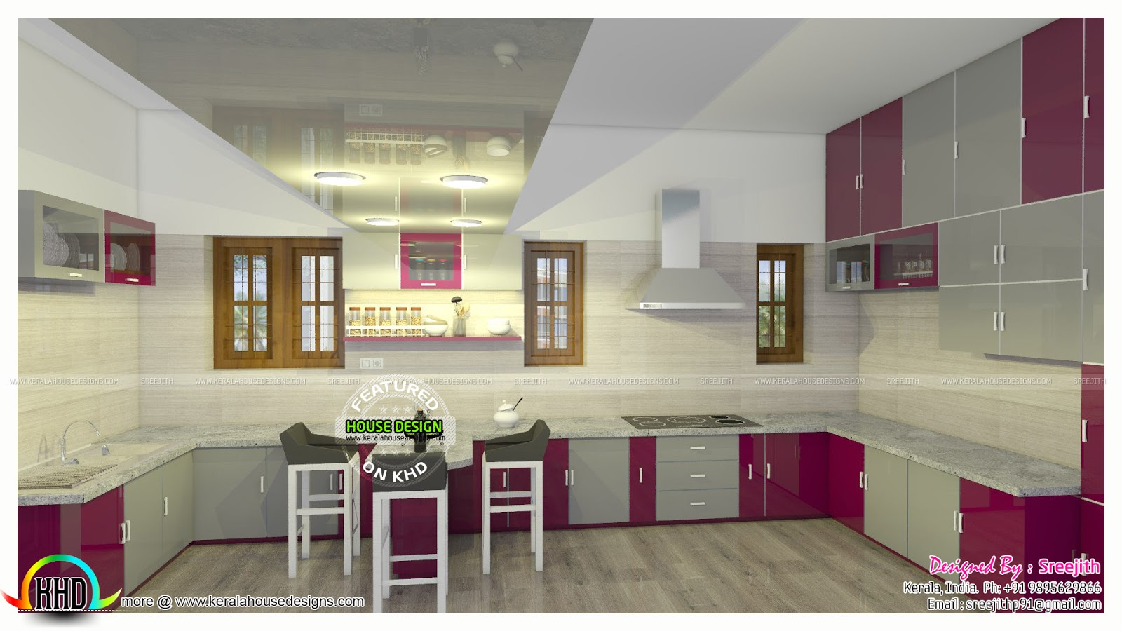 Kitchen gallery kerala house plan kerala 39 s no 1 house for Modern kitchen designs in kerala