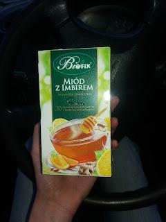 herbatka - miód i imbir