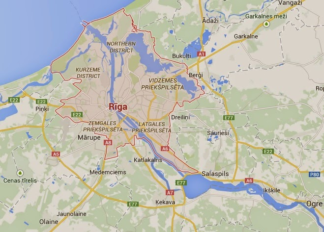 Googel Map Of Riga-Interesting Attractions Riga, Capital of Latvia