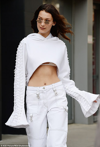 Supermodel Bella Hadid pamer bra